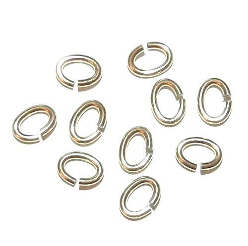 - 12kt Gold-Filled 7mm Oval 16 Gauge Heavy Jumpring 5pc #ID-7440