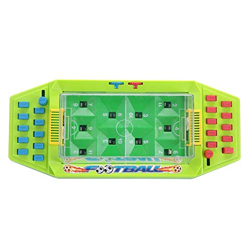 Table Soccer Toy, Interactive Desktop Mini Football Toy 2-Player Tabletop Soccer Games Early Educational Toy for Kids Children(Green) -
