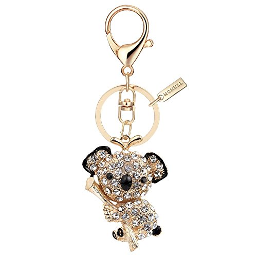Bear Design Keychains - Bling Crystal Koala Bear Key Ring Creative Packaging Design Box MZ805-1