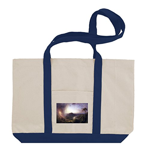The Valley Thomas Jamaica (Church) Cotton Canvas Boat Tote Bag - Royal Blue by Style in Print