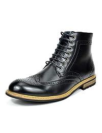 Bruno Marc Bergen Botines Oxford Zapatos de Vestir con Forro de Cuero y Botines Chelseas para Hombres