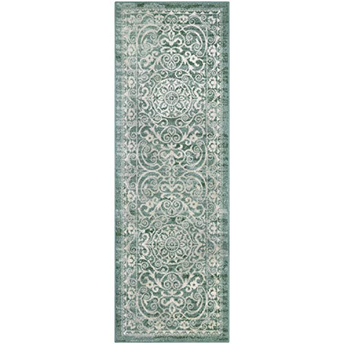 Maples Rugs Runner Rug - Pelham 2' x 6' Non Skid Hallway Entry Rugs Runner [Made in USA] for Kitchen and Entryway, Light - Rug Runner Thin