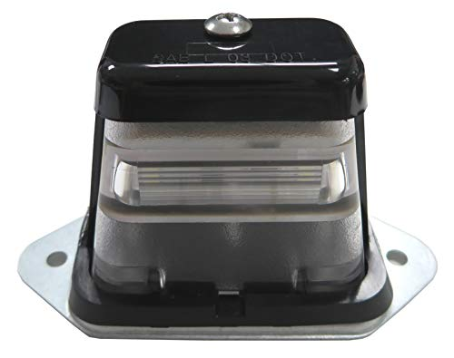 Surface Mount LED Trailer License Plate Lights [SAE/DOT Approved] [Waterproof] Universal Truck RV Licenses Plates Lights [Heavy Duty] Automotive Courtesy Step Tag Lights - Safety ATV Boat Lamp - Black