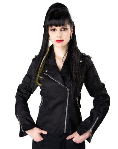 Black Pistol Biker Lady Jacket Denim DE Black (Noir)
