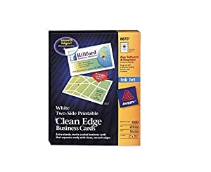 Amazon AVE8870 Clean Edge Business Cards for Ink