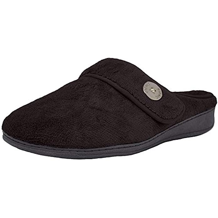 Vionic Women's Indulge Sadie Mule Slipper- Comfortable Spa House Slippers That Include Three-Zone Comfort with Orthotic Insole Arch Support, Soft House Shoes for Ladies