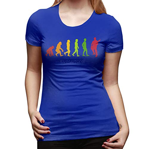 Burton Edith Guitar Player Evolution Guitarist Musician Women's Short Sleeve T Shirt Color Blue Size 31
