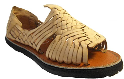 (MEXICAN SANDALS-Men's Genuine Leather Quality Handmade Sandals Huarache Natural_6)
