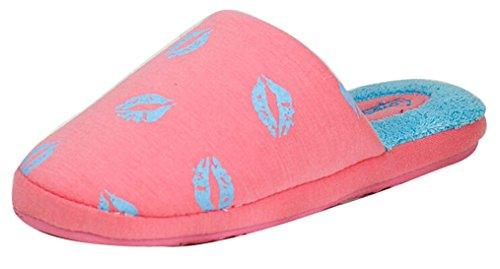 Blubi Womens Warm Bedroom Slippers House Slippers Watermelon Red bOaZpJ