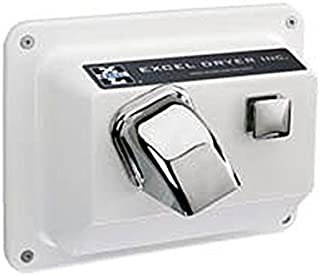 product image for Push Button Recessed Mounted Hand Dryer Cover Color: White, Voltage: 110 / 120