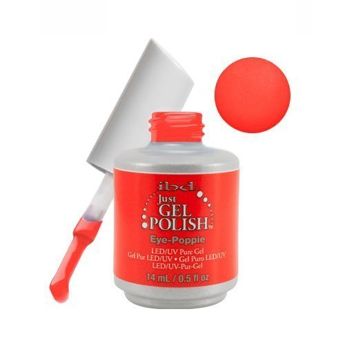 (IBD Just Gel Polish Floral Metric Soak Off Red Orange Eye-Poppie 56851 .5 fl oz)