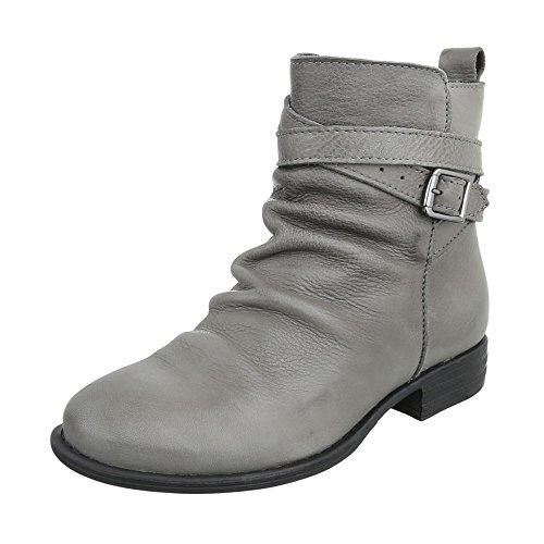 Ital-Design WoMen Schlupfstiefel Grey