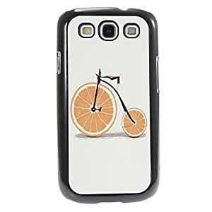 HJZ Orange Bicycle Pattern Aluminum&Plastic Hard Back Case Cover for Samsung Galaxy S3 I9300