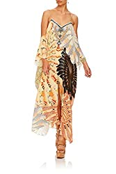 The Fans Shoestring Strap Kaftan With Crystals