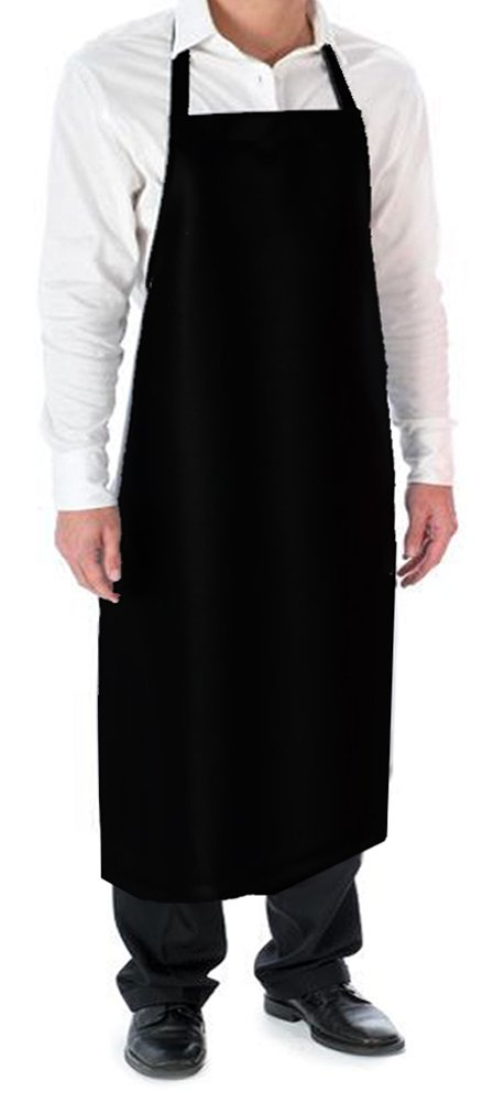 Cozy Home Vinyl Waterproof Apron Durable Ultra Lightweight Extra Long Black by Cozy Home Living