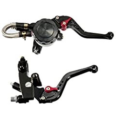 Condition: 100% Brand New Material: levers are made of anodized aluminum, as well as cover the brake fluid reservoir  Features:  The levers are adjustable.  Two fingers with short arms.  6 position adjustment lever made of stainless steel fas...