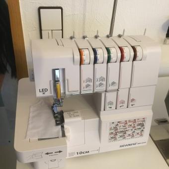Sewmaq Cover Lock & Overlock Máquina de coser modelo sw4334 2/3 Aguja eléctrica con