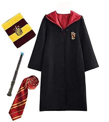 Disfraz de Harry Potter para niño Adulto Unisex Capa Disfraz Cosplay Conjunto Traje Varita mágica Corbata Bufanda Gafas Gafas Marco Sombrero Camisa de ...