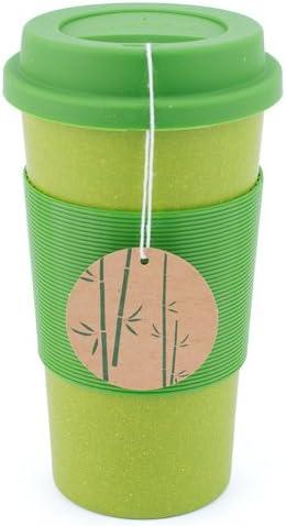 Amazon Com Peterson Housewares Bamboo Fiber Eco Cup 22 Oz Green Kitchen Dining