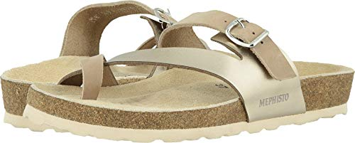 (Mephisto Women's Nalia Light Taupe Nubuck/Platinum Star 39 B EU)