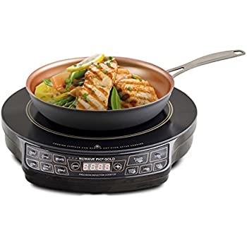 """NuWave 30242 PIC Gold Precision Induction Cooktop with 10.5"""" Fry Pan, Black"""