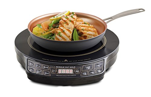 "NuWave 30242 PIC Gold Precision Induction Cooktop with 10.5"" Fry Pan, Black"