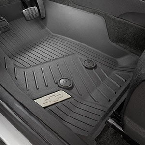 Perfect GM # 84056631 Premium All Weather Floor Liners In Black, Front, GENUINE GM