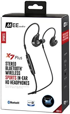 Shopping MEE audio EP-X7Plus-BK-MEE Stereo Bluetooth Wireless Sports in-Ear HD Headphones fSlN4OD