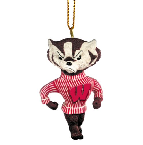 Wisconsin badgers christmas ornament christmas wisconsin for Badger christmas decoration