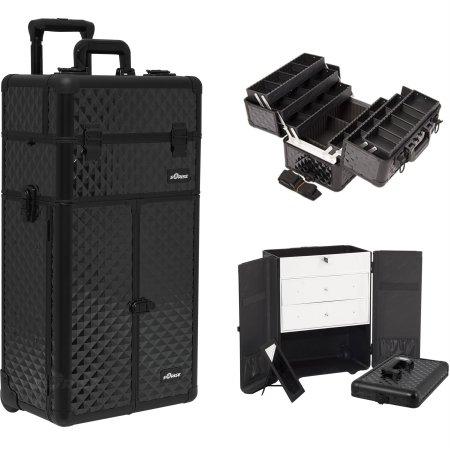 SunRise I3466DMAB - Estuche Organizador Puerta de Maquillaje cajones Grandes bandejas Extensibles de 6 Niveles separadores de...