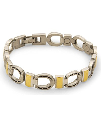 - Sabona Men's Horseshoe Magnetic Bracelet Silver X-Large