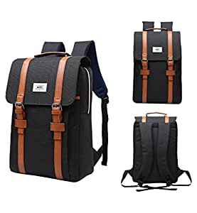 Tom Clovers Casual Business Canvas British Style Waterproof Oxford School Backpack 15 Inch Laptop Schoolbag Travel Unisex