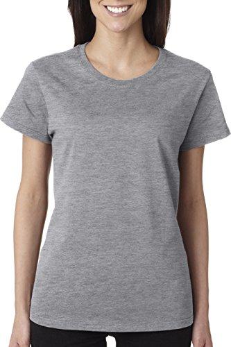 Gildan Heavy Cotton Ladies' T-Shirt, Sport Grey, Small