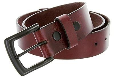 Burgundy Full Grain Genuine Work Jean Casual Leather Belt