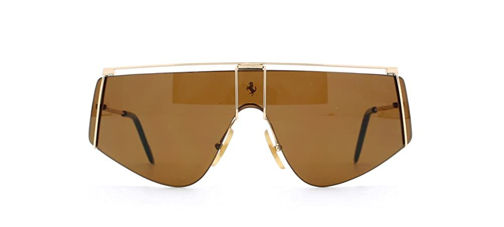 Ferrari 15 524 Gold Authentic Men Vintage Sunglasses