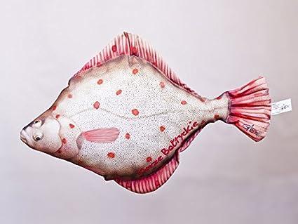 Gaby Cojín Pescado la Flunder 41 cm Manta Peces kuscheltie ...