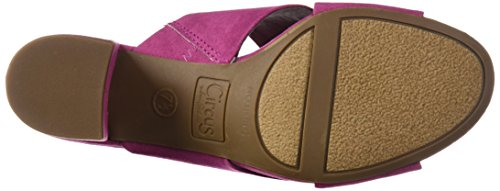 Sam Edelman Women's Stevie Heeled Sandal, Black Mulberry Pink