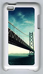 Apple iPod 4 Case and Cover - The Golden Gate Custom Design Polycarbonate Hard Case Cover for iPod 4/ iPod 4th Generation - White