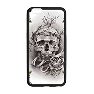 Skull iPhone 6 Case, Tough Armor [Drop Protection] Soft Interior [Scratch Resistant] Perfect-Fit [Shock Absorbing] [Non-Slip] Hard Case for iPhone 6 Plus (4.7-inch) by icecream design