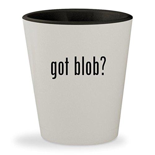 got blob? - White Outer & Black Inner Ceramic 1.5oz Shot - Steve Bag Mcqueen