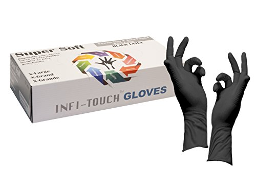 Infi-Touch  8mil Thickness Black Latex 12