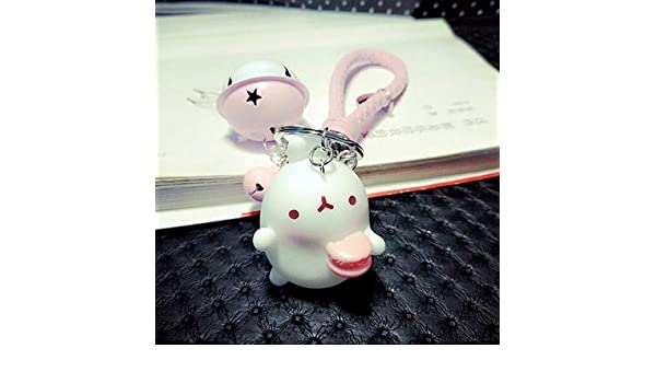Amazon.com: Rarido Cute Bunny Keychain Alloy Bell Car ...