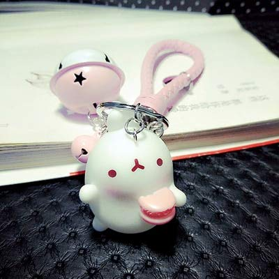 Amazon.com: Rarido Cute Bunny Keychain Alloy Bell Car ...