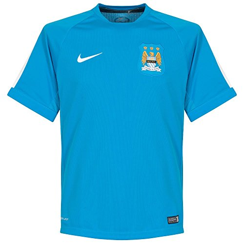 Nike Manchester City Squad SS Training Top (Vivid Blue, White) X-Large