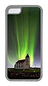 iPhone 5C Case, Customized Protective Soft TPU Clear Case for iphone 5C - Aurora Night Cover