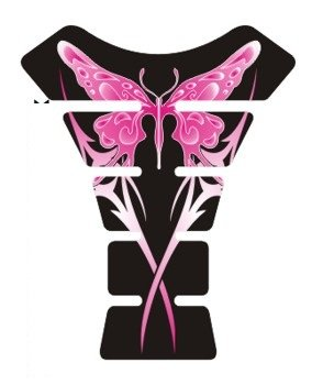 Motorcycle butterfly pink black sportbike gel tank pad protector