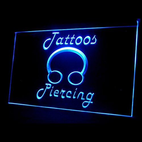 100017 Tattoos Piercing Ring Body Tumblr Shop Display LED Light Sign by Easesign