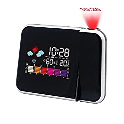 Hippih Projection Digital Alarm Clock with LED Backlight/Color (BLACK)