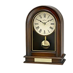 Bulova B7467 Hardwick Clock, Walnut Finish