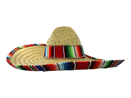 Jacobson Hat Company Mexican Sombrero Hat Adult Costume Spanish Fiesta Cinco de Mayo Festive Salsa,Multi-color,One Size